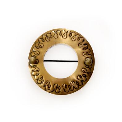 Dekorační sponka Kruh zlatá antika, 12 cm