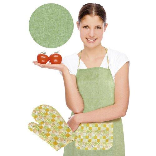 Zástěra s chňapkou, zelená