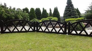 Gărduleţ de grădină, 2,3 m, maro