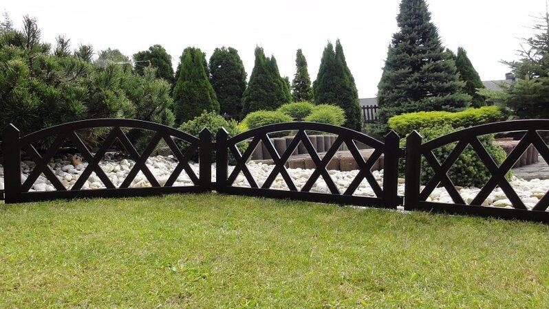 Kerti kis kerítés 2,3 m – barna