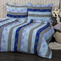 Lenjerie de pat din crep Bruno Aqua, 140 x 200 cm, 70 x 90 cm