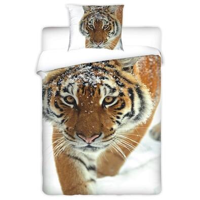 Bavlněné povlečení Tygr, 140 x 200 cm, 70 x 90 cm