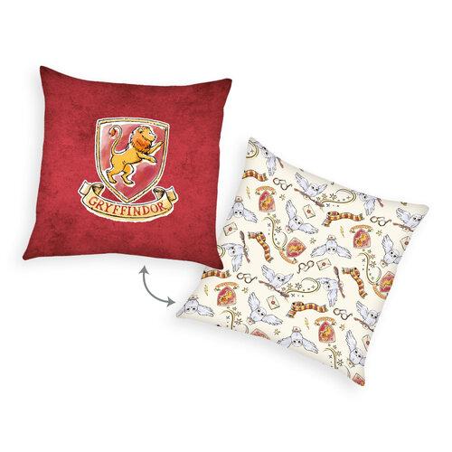 Harry Potter párna, piros, 40 x 40 cm