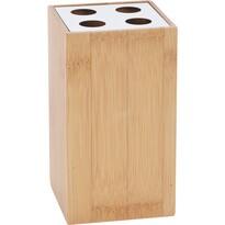 Bambusowy stojak na szczoteczki Lina, 12cm