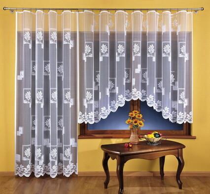 Žakárová záclona Sabina, 350 x 150 + 200 x 250 cm