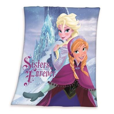 Detská deka Ľadové kráľovstvo Frozen Sisters forever, 130 x 160 cm