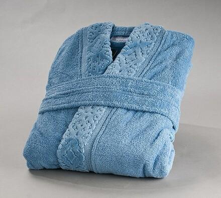 Pánský župan, modrý, L / XL