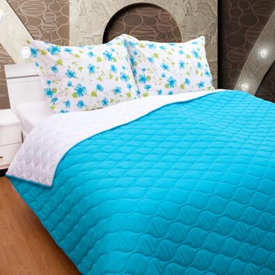 Přehoz na postel tyrkys, 230 x 260 cm