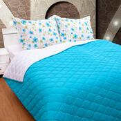 Prehoz na posteľ tyrkys, 230 x 260 cm