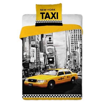 Bavlněné povlečení NY Taxi, 140 x 200 cm, 70 x 90 cm
