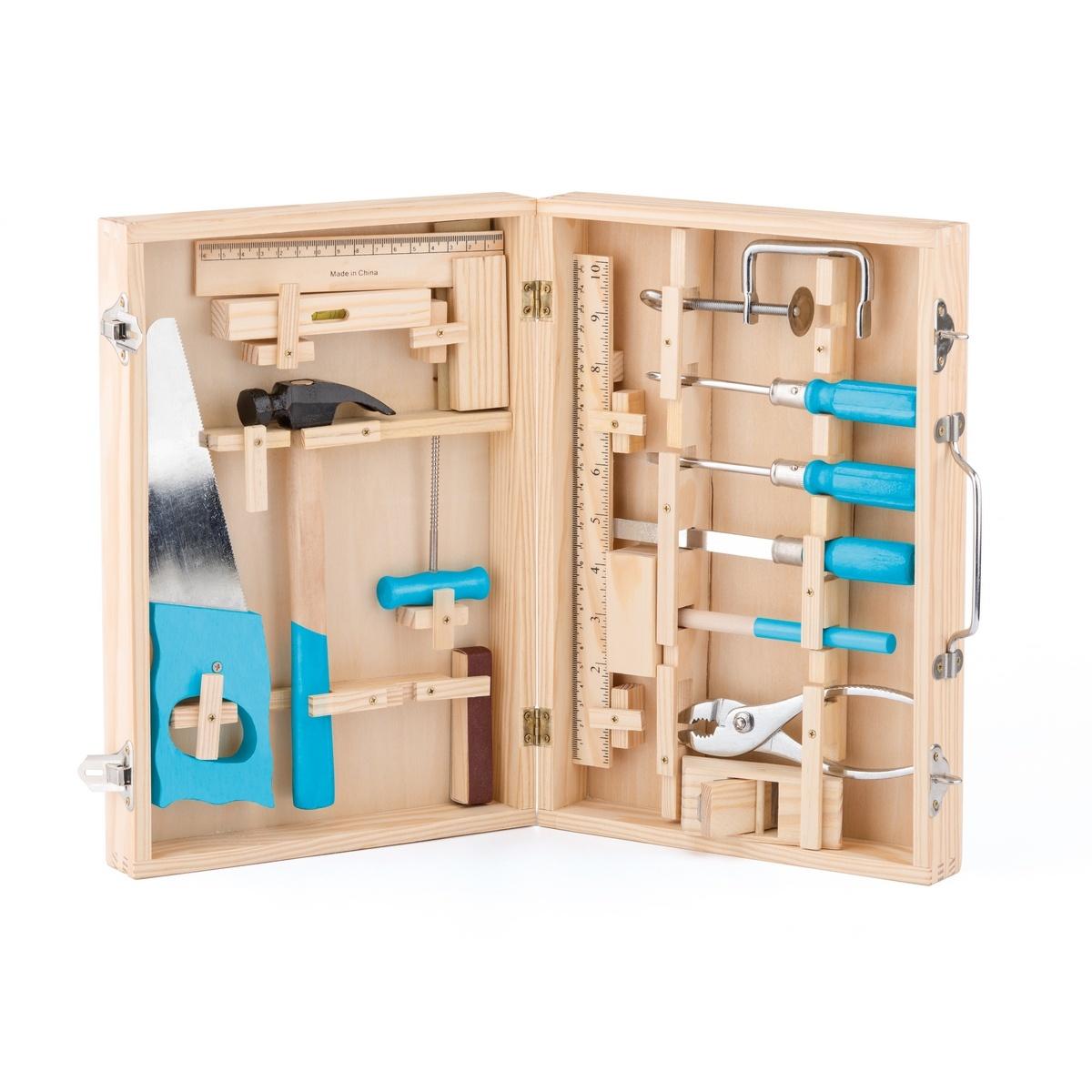 Woody Kovové nářadí v dřevěném kufříku, 16 ks
