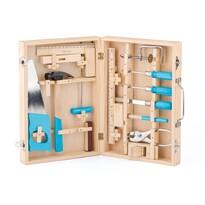 Woody Fém szerszámok fa bőröndben, 16 db-os