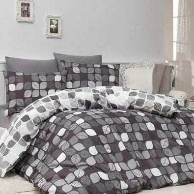 Bavlnené obliečky Bunku V1 grey, 140 x 200 cm, 70 x 90 cm