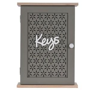 Skříňka na klíče Trento hnědá, 28 x 20 cm