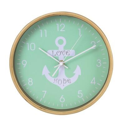 Hama HG-260 nástěnné dřevěné hodiny Kotva