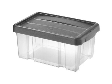 Tontarelli Úložný box s vekom Puzzle 5 l, transparentná/sivá