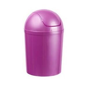 Aldotrade Kosmetický odpadkový koš Swing 5 l, fialová