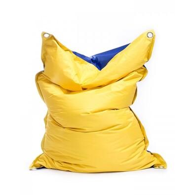Sedací pytel s popruhy Blue-Yellow 191 x 141 cm