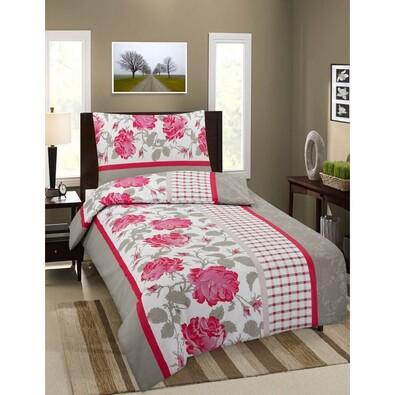 Pościel bawełniana Premium Róże, 140 x 200 cm, 70 x 90 cm