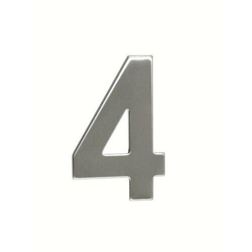"""Nerezové číslo 4 v plochém """"2D"""" provedení. RICHTER RN.95L.4.N"""