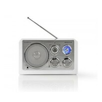 Radio de masă Nedis Retro FM / AM 3 W, alb