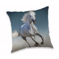 Obliečka na vankúšik White horse, 40 x 40 cm