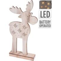 Koopman Vianočný sob Artie 5 LED, 40,5 cm