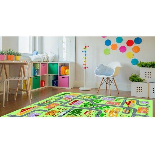 Dětský koberec Ebel město, 100 x 150 cm
