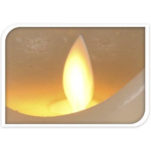 LED Svíčka Flamme bílá, pr. 9,5 cm