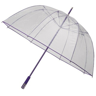 Průhledný deštník Princess fialový
