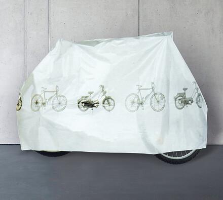 Ochranná plachta na kolo, bílá, 185 x 97 cm