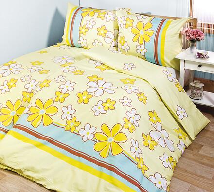 Bavlněné povlečení Květy, 140 x 200 cm, 70 x 90 cm