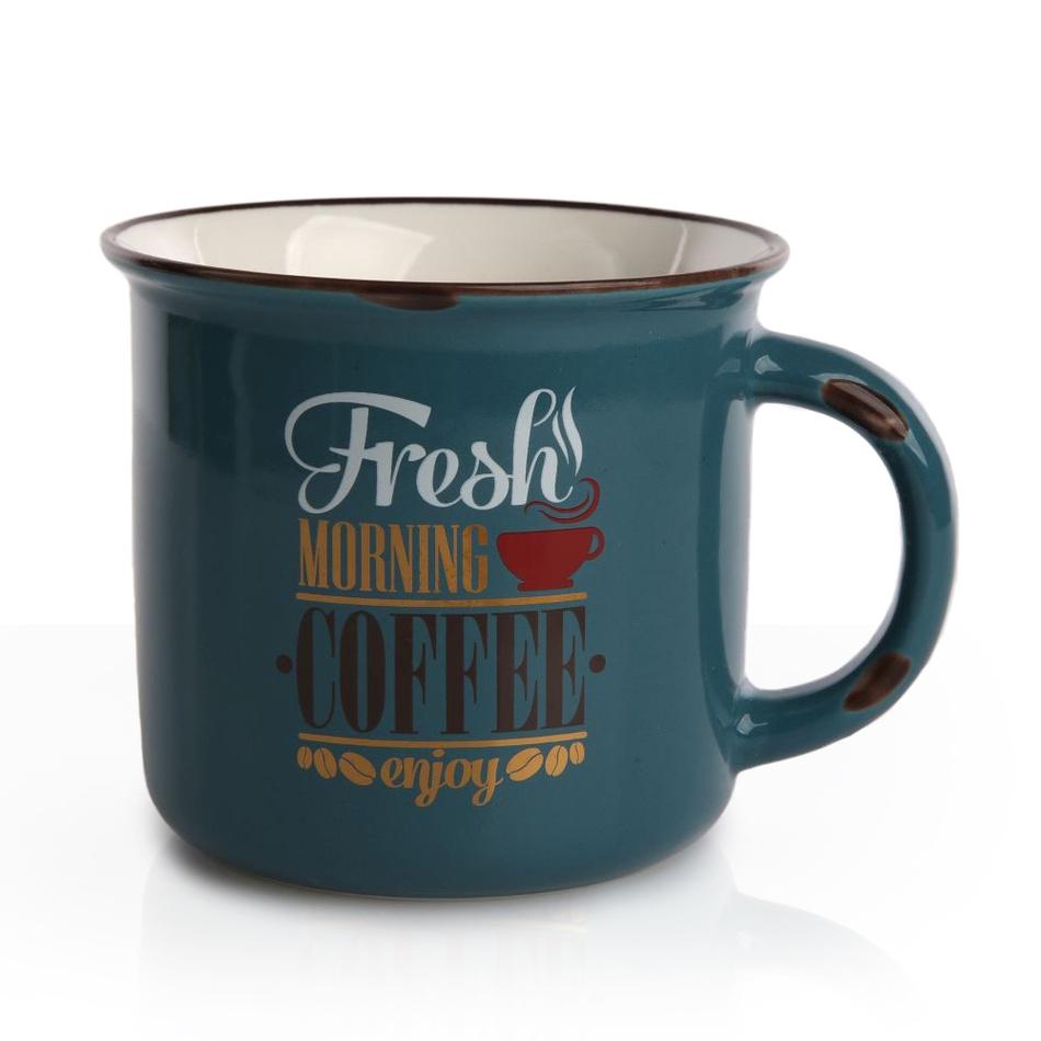 Porcelánový hrnek Cofee 330 ml, modrá