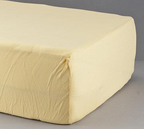 Prostěradlo s lycrou 4Home, žlutá, 90 x 200 cm