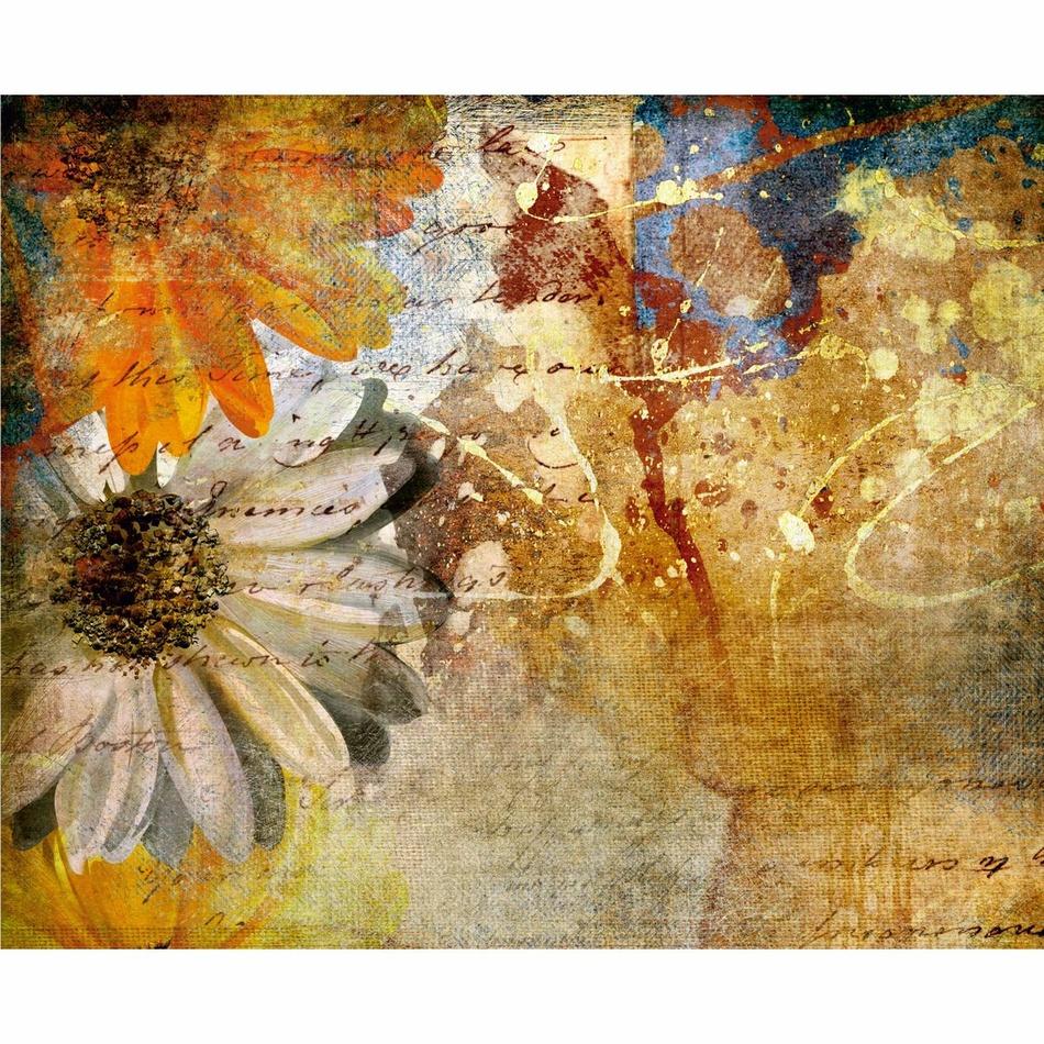 AG Art Fototapeta XXL Květinová malba 360 x 270 cm, 4 díly