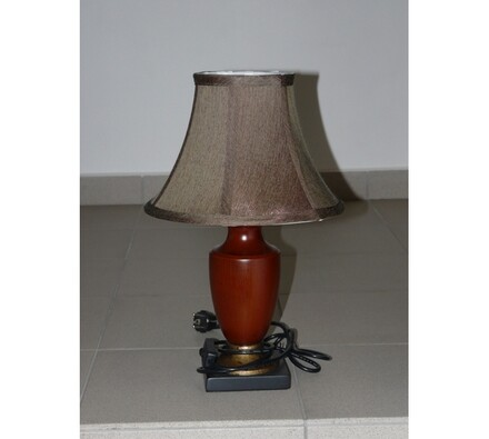 Stolní lampa malá ZL-038M výška 46 cm hnědá, hnědá, pr. 30 x 46 cm