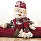 Látkový snehuliak k dverám