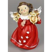 Vianočný anjelik s harfou, 10 cm