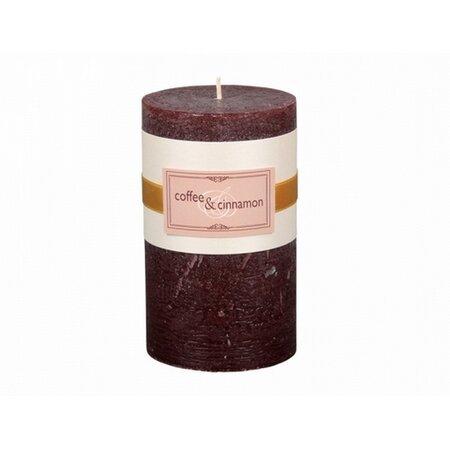 Dekoratív gyertya Elegance kávé és fahéj, 12 cm