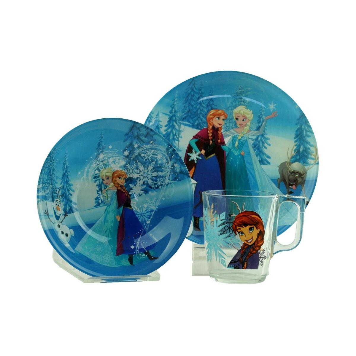 Mäser DISNEY 3-dielna detská jedálenská súprava Frozen Winter Magic