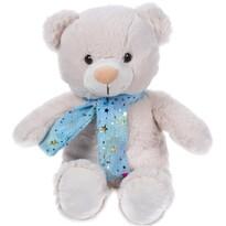 Plyšový medvedík so šálom béžová, 29 cm