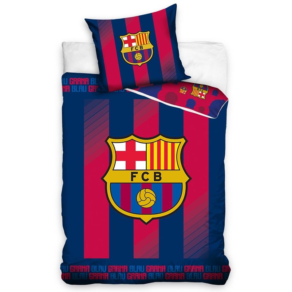 TipTrade Bavlněné povlečení FC Barcelona Blaugrana, 140 x 200 cm, 70 x 90 cm