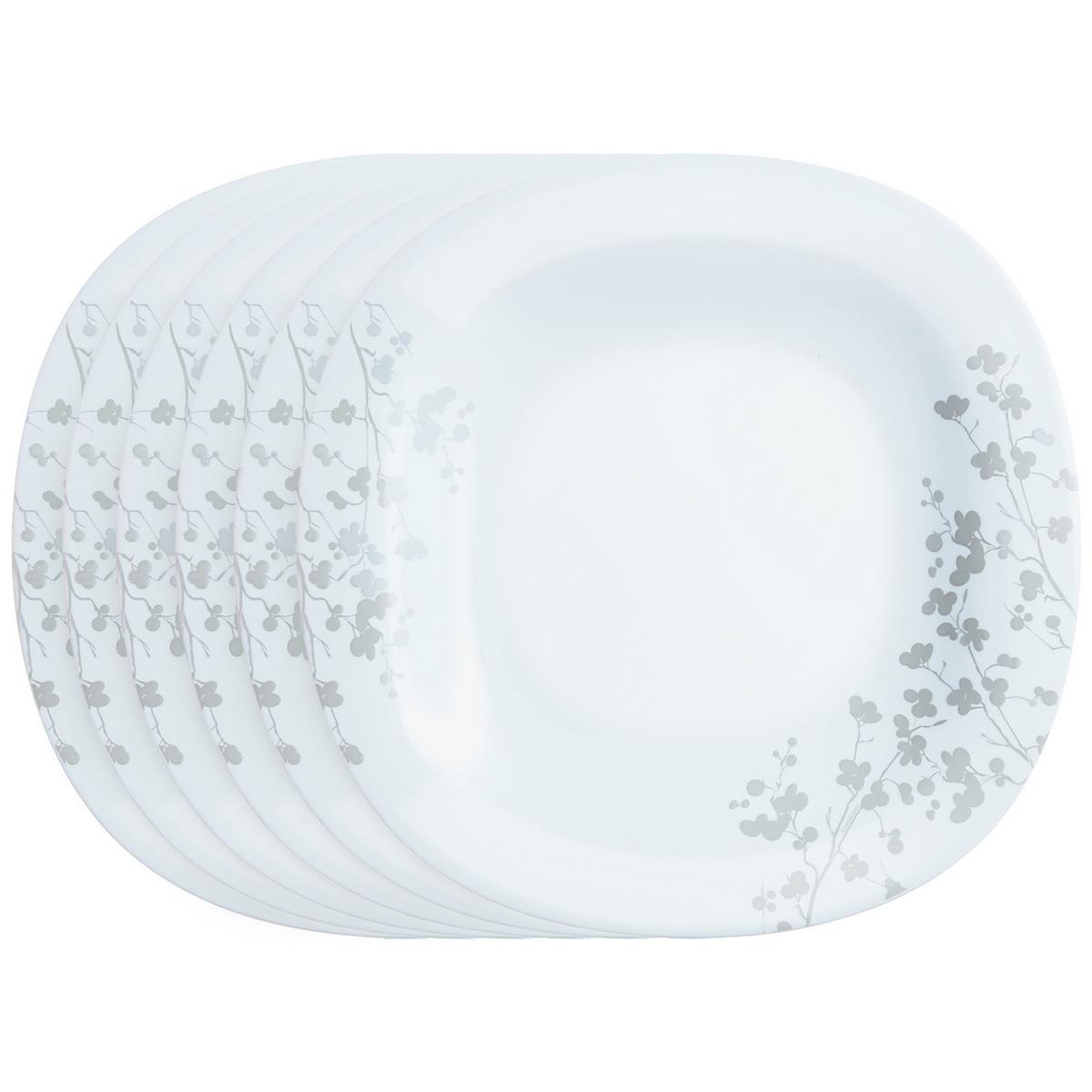 Luminarc Sada dezertních talířů Ombrelle 19 cm, 6 ks, bílá