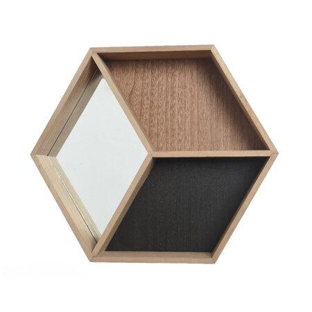 Nástenná skrinka so zrkadlom Rhomb, 46 cm