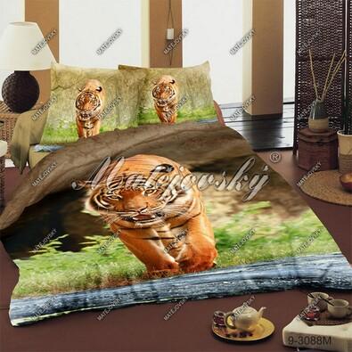 Matějovský bavlněné povlečení Tygr bengálský, 140 x 200 cm, 70 x 90 cm