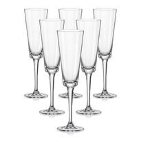 Crystalex 6dílná sada sklenic na sekt JIVE, 180 ml