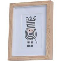 Dřevěný fotorámeček Hatu Zebra, 17 x 3 x 22 cm
