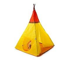 Indian III namiot z nadrukiem dla dzieci żółty