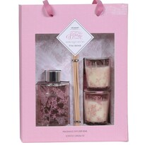Koopman Sada difuzéru a svíček Aromart Pink orchid, 3 ks