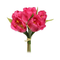 Kwiaty sztuczne wiązka Tulipan, różowy
